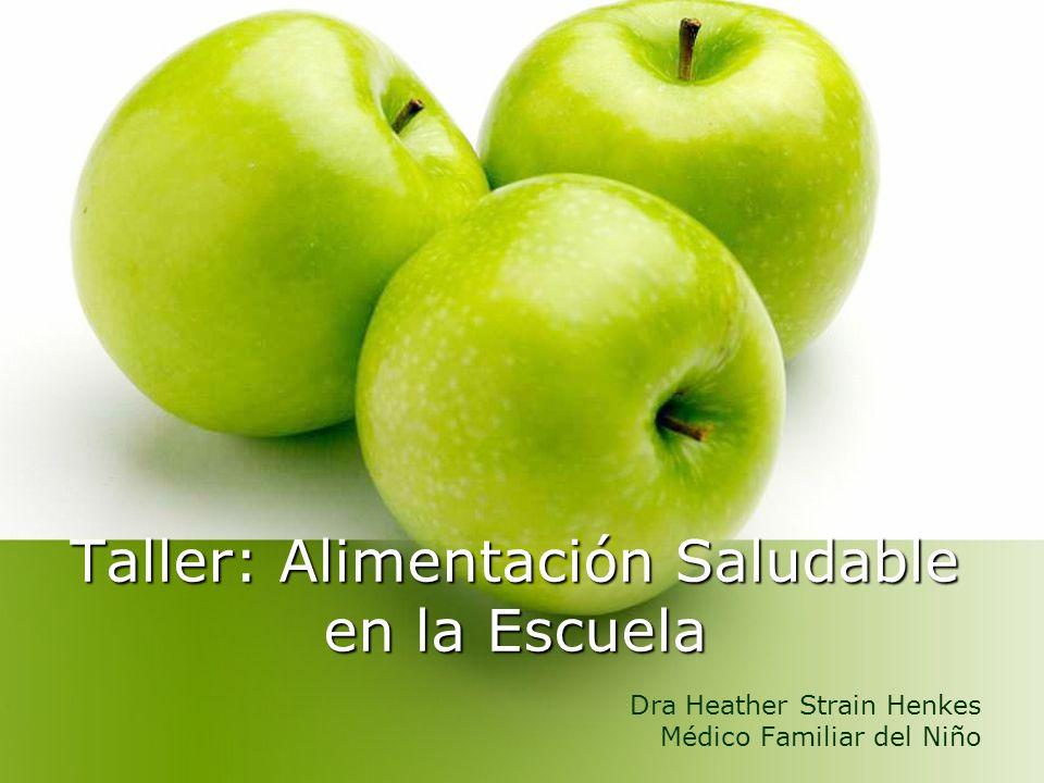 Taller: Alimentación Saludable en la Escuela Dra Heather Strain Henkes Médico Familiar del Niño