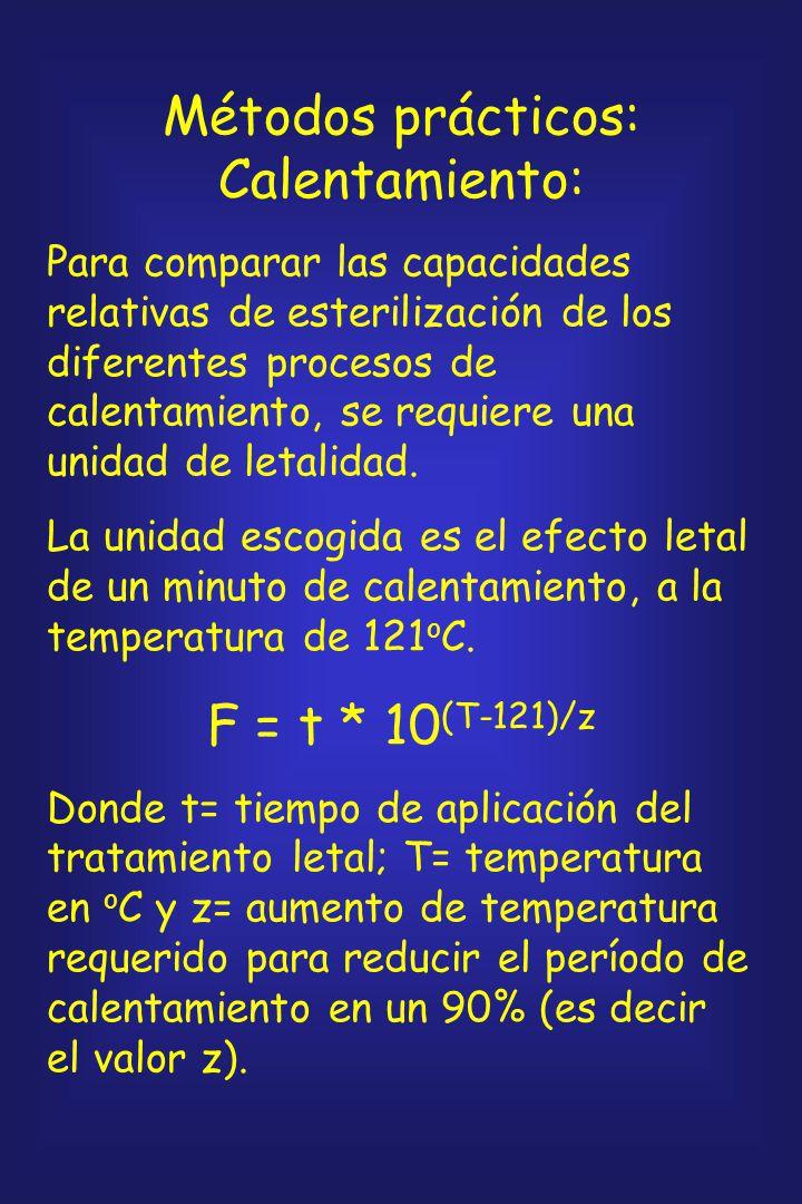 Un parámetro más útil es: Tiempo de reducción decimal o valor D: tiempo en minutos, a una temperatura determinada, que se requiere para reducir la pob