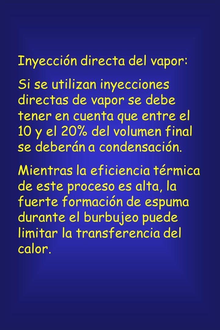 Procesos discontinuos: Autoclaves: Todo el aire debe ser eliminado antes del ciclo de calentamiento, ya que mezclas de aire y vapor a una presión dete