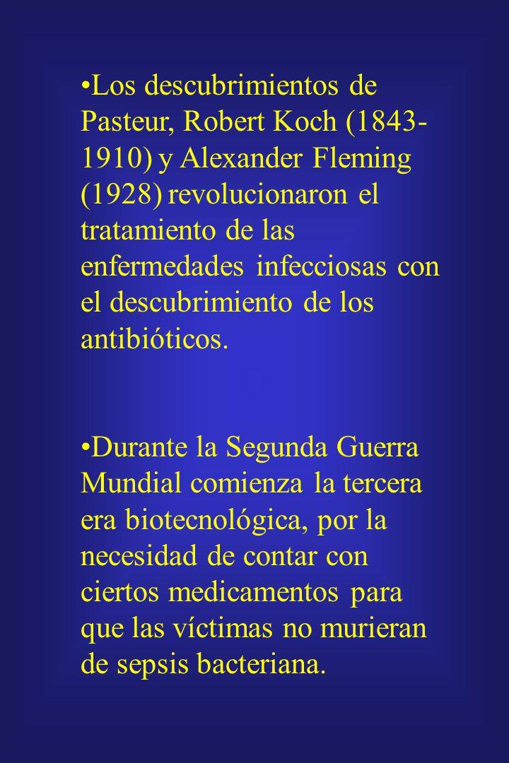 La Guerra Mundial (1914-1918) supuso demandas biotecnológicas: Proceso Neuberg para producir glicerol (para nitroglicerina) mediante la fermentación d