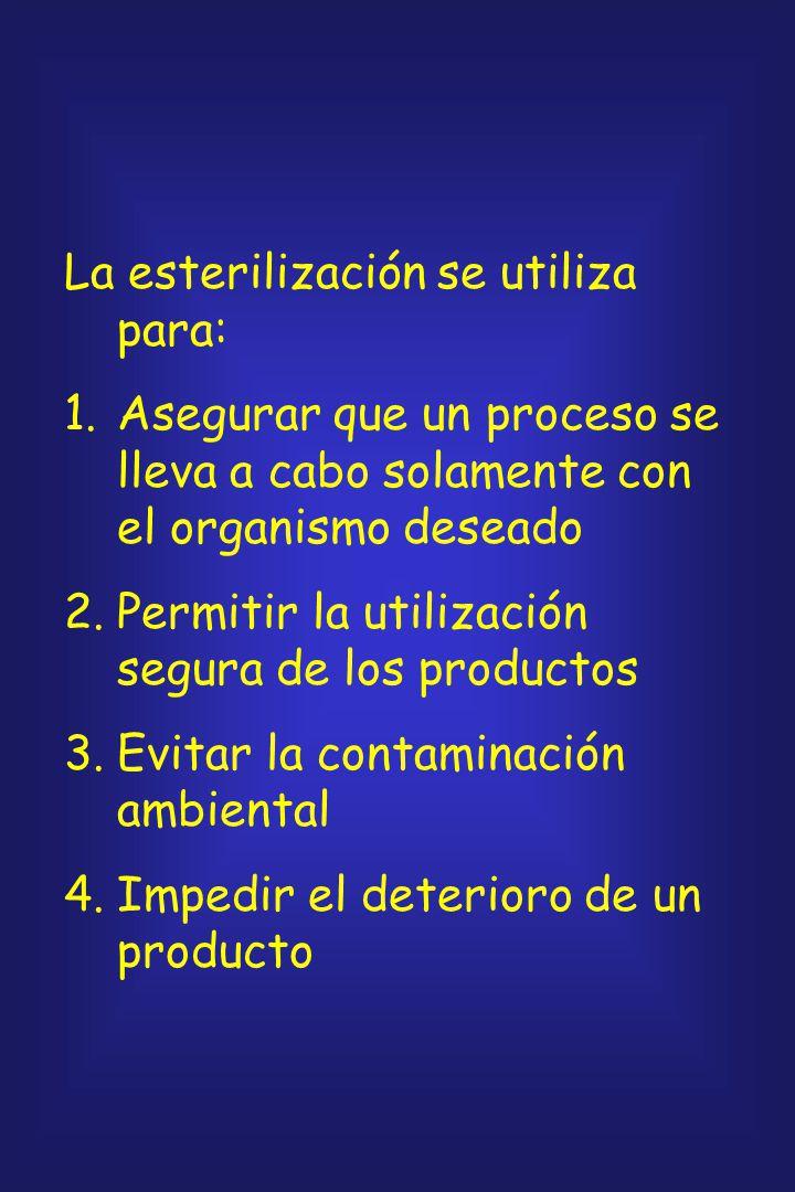 La esterilización es el proceso de conseguir la esterilidad, para la que no existen grados: un objeto, superfcie o sustancia es, o no es, estéril. Si