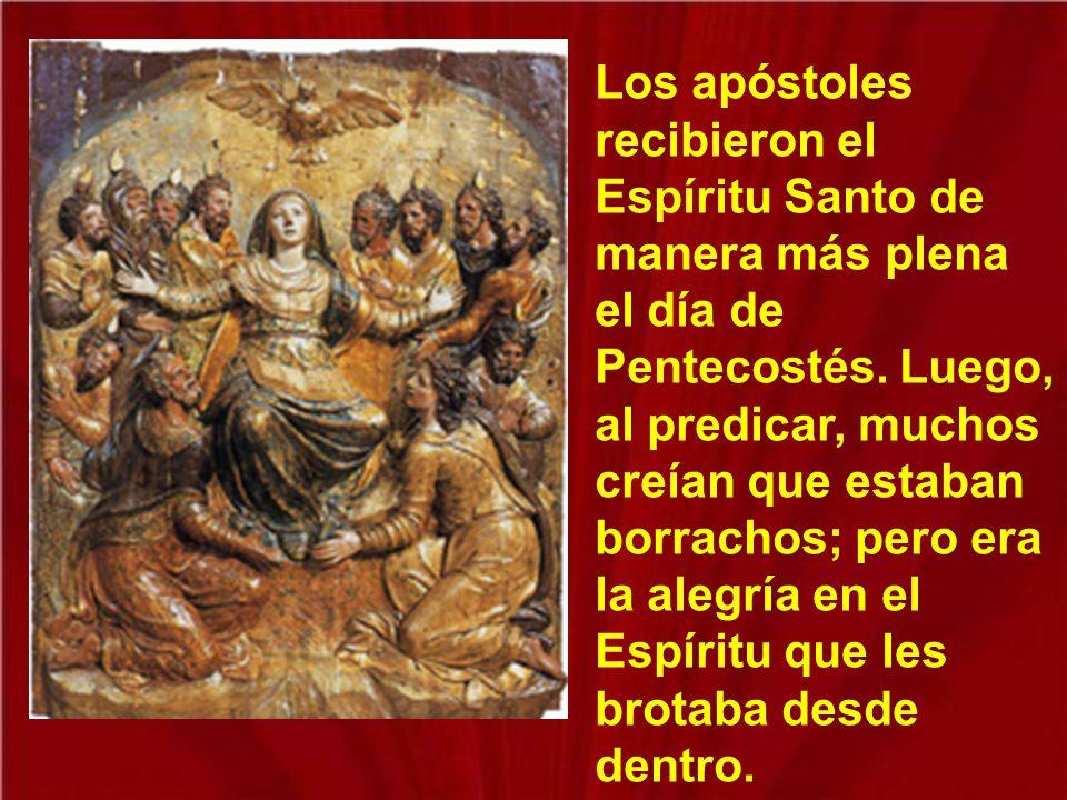 La alegría santa es un fruto del Espíritu Santo y Jesús se lo ofrece a los apóstoles como regalo de su Resurrección.