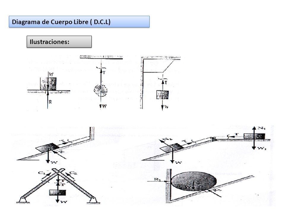 Diagrama de Cuerpo Libre ( D.C.L) Ilustraciones:
