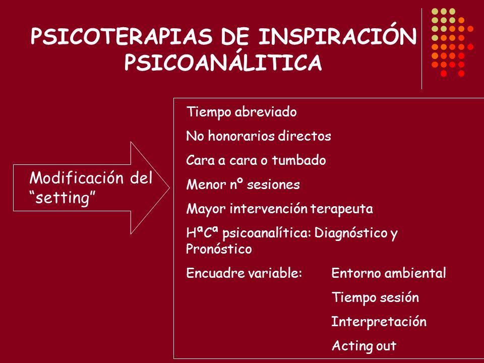 Formas de psicoterapia que se centran en modificar los patrones inadecuados de conducta mediante el uso de los principios básicos del aprendizaje (Baron, R, 2001)