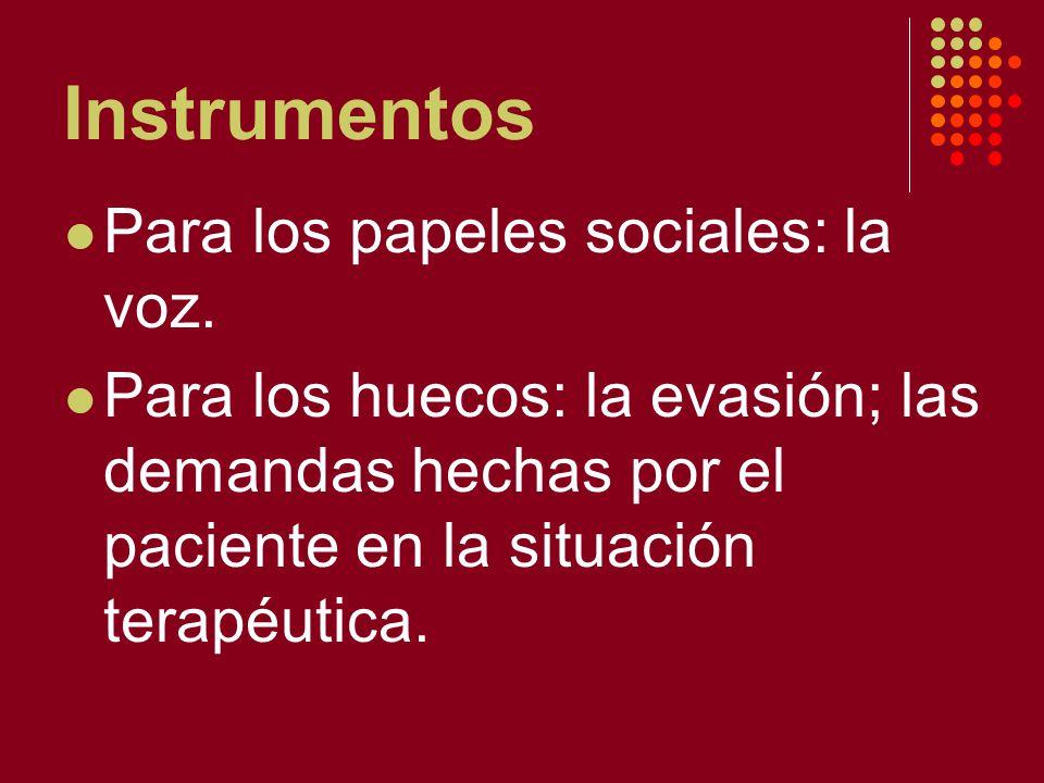 Instrumentos Para los papeles sociales: la voz.