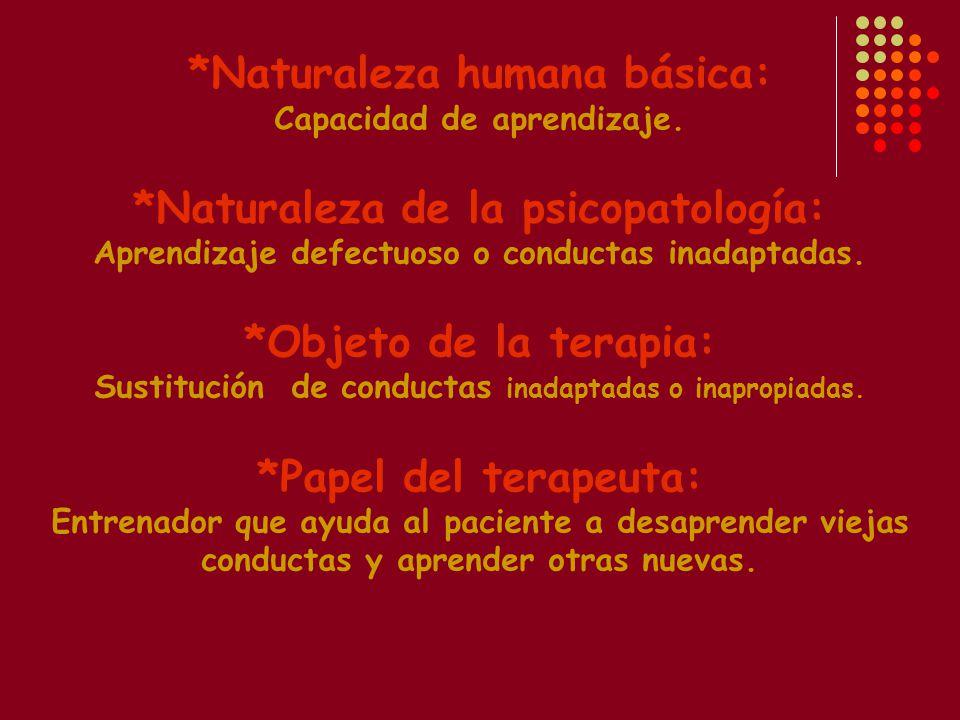 *Naturaleza humana básica: Capacidad de aprendizaje.