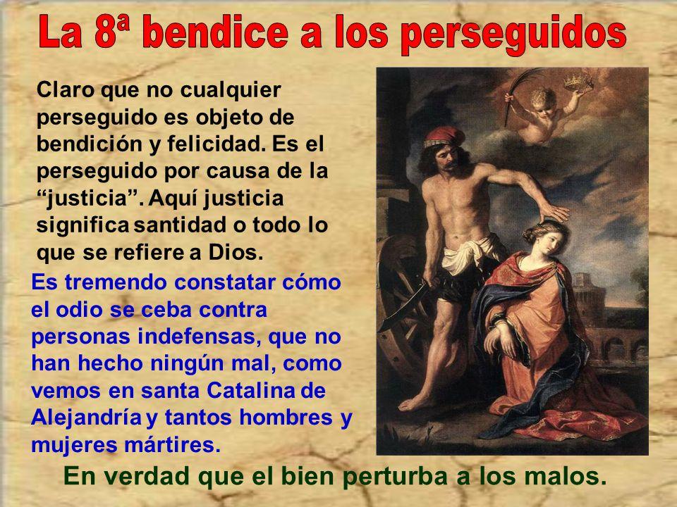 Mucho tuvo que trabajar santa Catalina de Siena para poner paz en la Iglesia y entre diversos estados. Pacífico es primero quien busca la paz en sí y