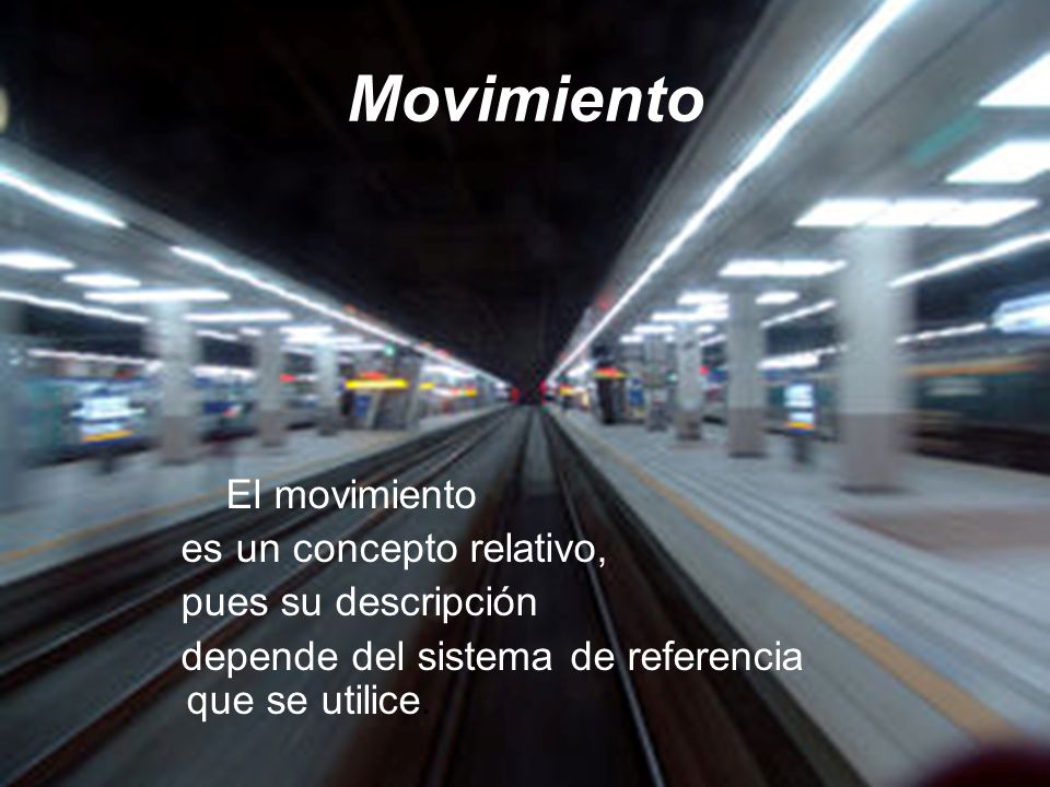 Cinemática Descripción de un movimiento.