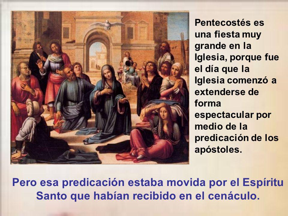 Es fruto porque Jesús exhala su espíritu sobre los apóstoles, indicando su aliento espiritual sobre nosotros.