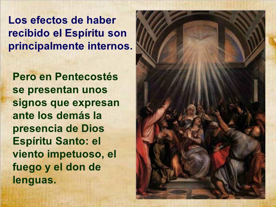 Es tan grande el Espíritu, que nos llena según las disposiciones que tengamos. Y los apóstoles no tenían las mejores disposiciones el día de la Resurr