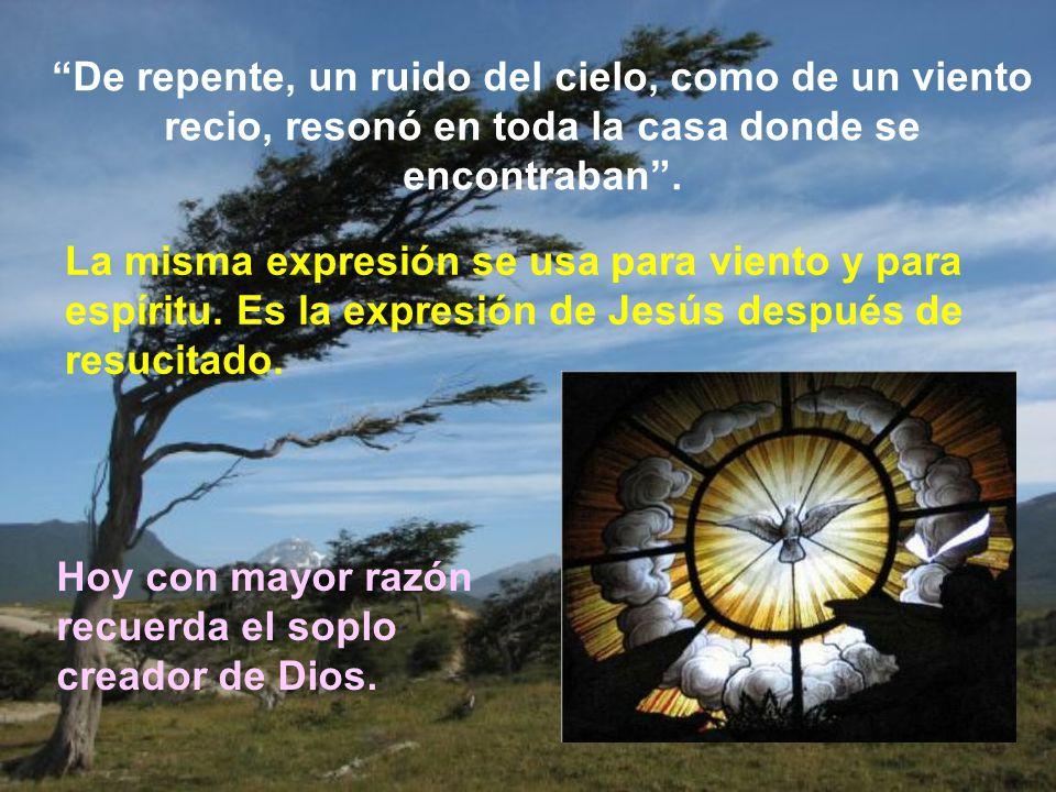 Los efectos de haber recibido el Espíritu son principalmente internos. Pero en Pentecostés se presentan unos signos que expresan ante los demás la pre