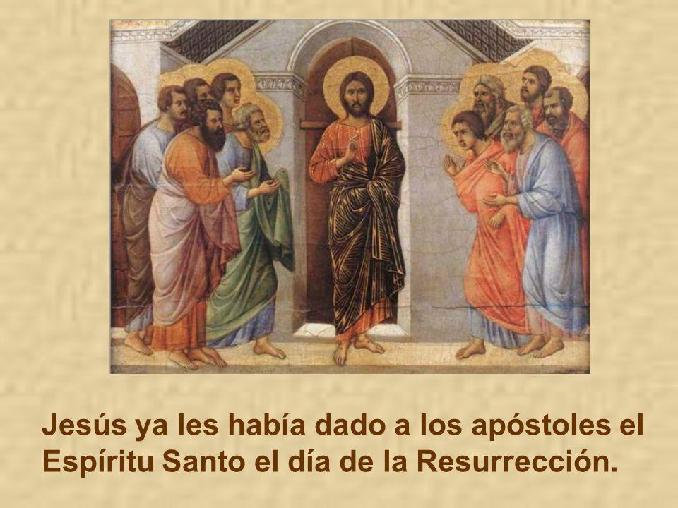 Y lo derrama en el bautismo, en la confirmación Y lo derrama especialmente en la Eucaristía.
