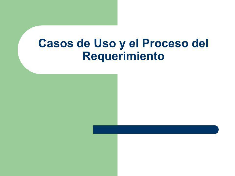 Proceso de Requerimientos Nuestra Clase Declaración de Trabajo Listado de Casos de Uso Casos de Uso Fachada Casos de Uso Terminados Prototipos Listado de Actores Casos de Uso Completos Casos de Uso Enfocados Priorizar Especific.