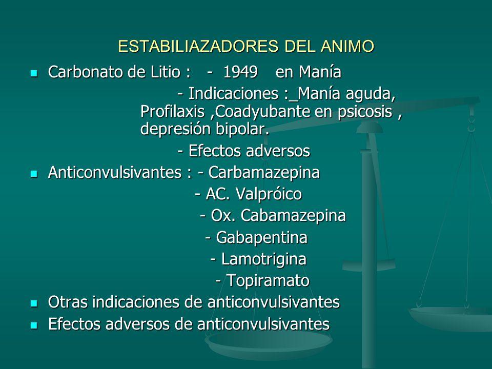 Antidepresivos Definición Definición Historia: * 1959 imipramina Historia: * 1959 imipramina Clasificación : *Estructura química : Triciclitos o tetra