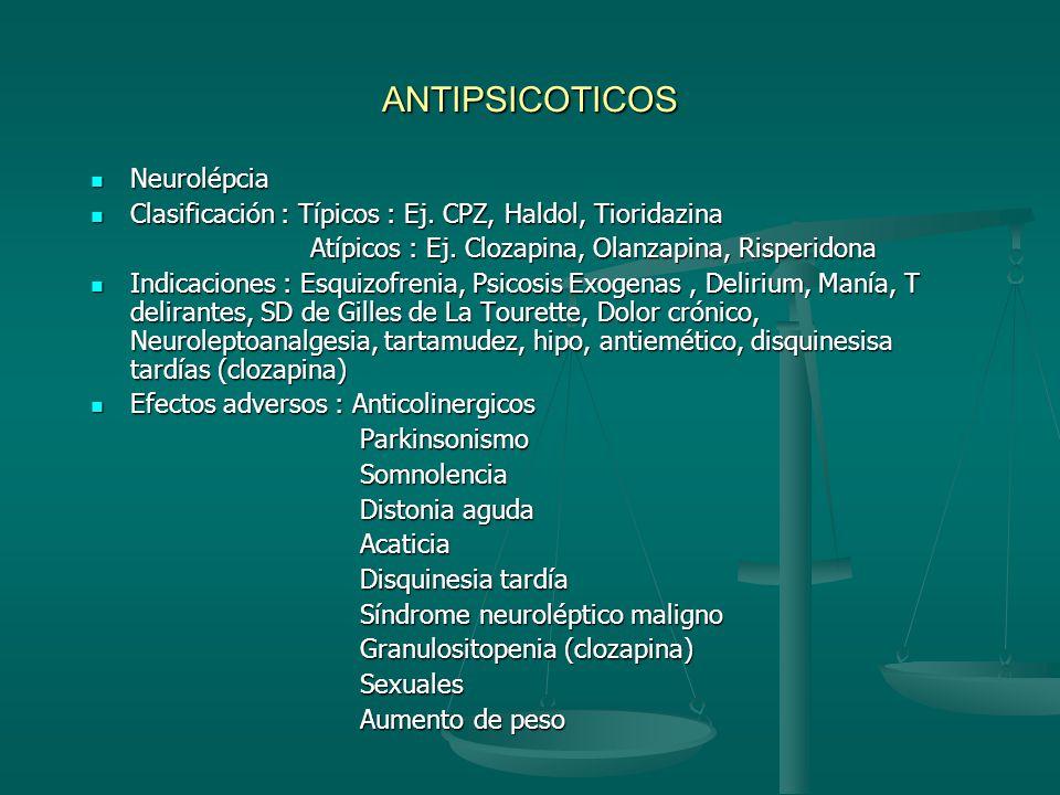 ESTABILIAZADORES DEL ANIMO Carbonato de Litio : - 1949 en Manía Carbonato de Litio : - 1949 en Manía - Indicaciones :_Manía aguda, Profilaxis,Coadyuba
