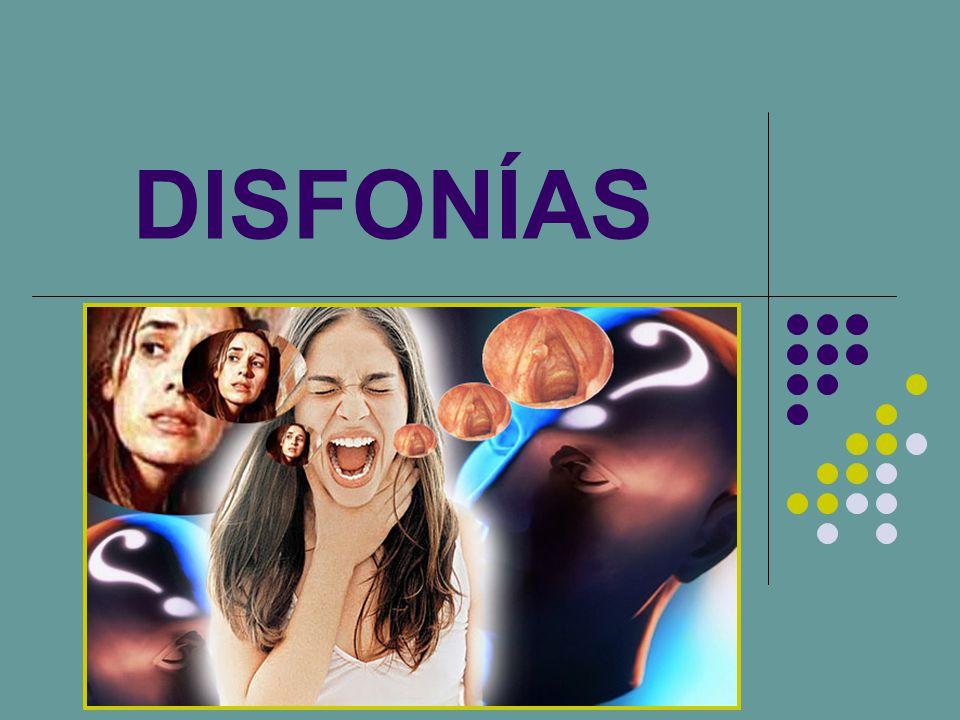 DISFONÍA AUDIÓGENA Es la alteración de la voz como consecuencia de un déficit auditivo.