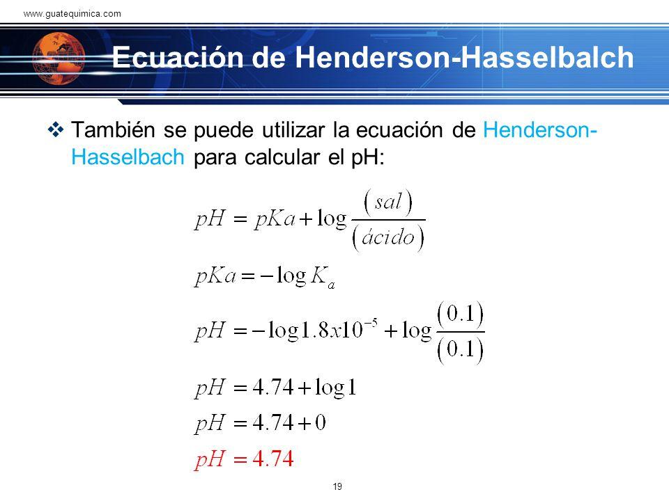 Del ejemplo anterior, se puede generalizar diciendo que para cualquier solución reguladora, la concentración de ion hidrógeno o del ion hidroxilo es i