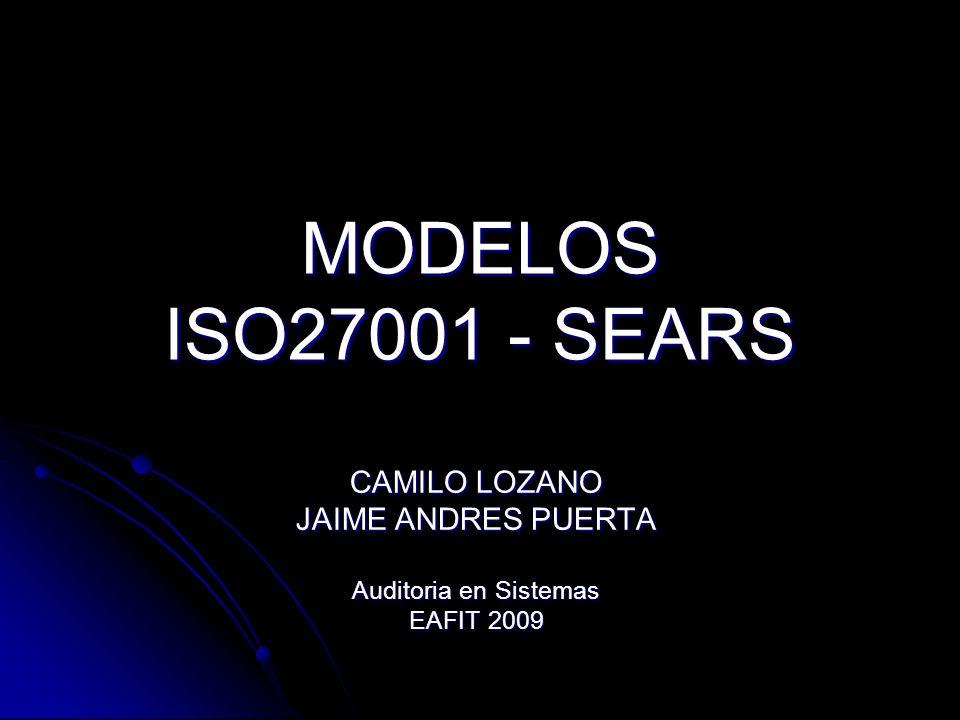 MODELOS ISO27001 - SEARS CAMILO LOZANO JAIME ANDRES PUERTA Auditoria en Sistemas EAFIT 2009