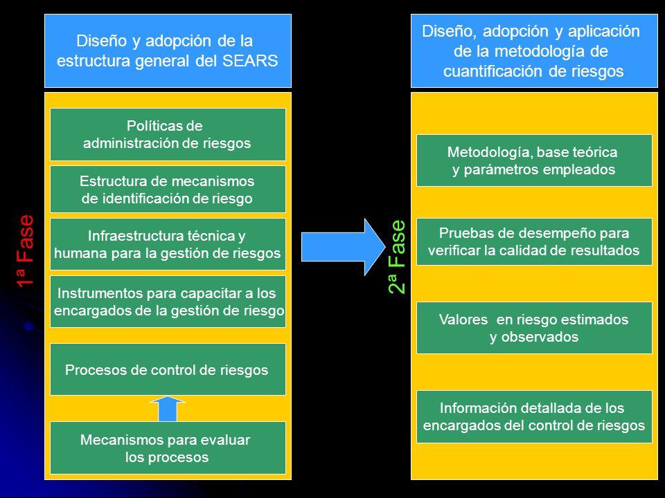 Diseño y adopción de la estructura general del SEARS Políticas de administración de riesgos Estructura de mecanismos de identificación de riesgo Infra