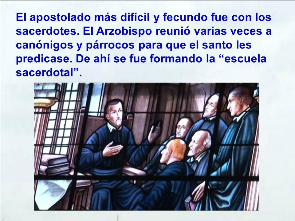 Desde entonces comenzó su apostolado, principalmente con la predicación. Muchos eran los que se convertían. El santo, después de cada predicación entr
