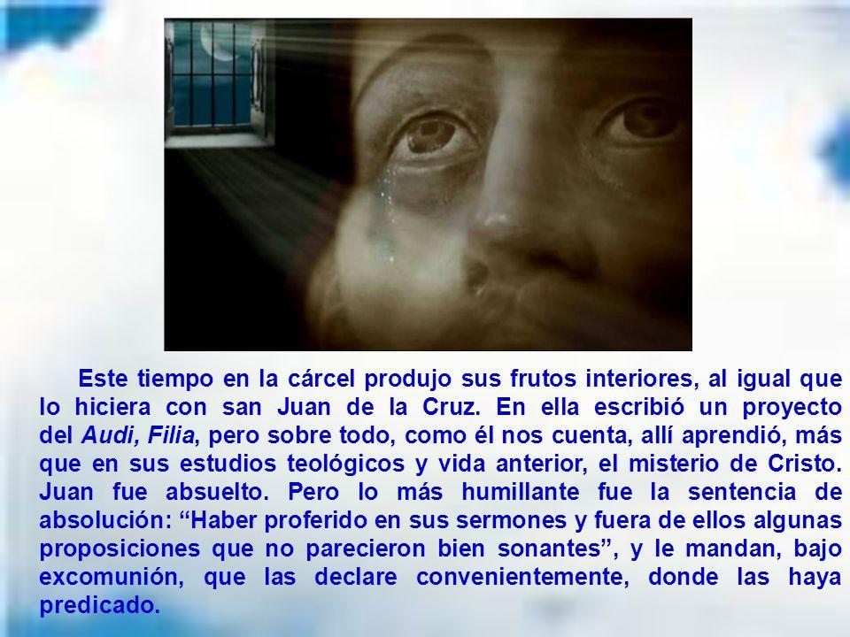 Juan de Ávila no quiso defenderse y la situación era tan grave que le advirtieron que estaba en las manos de Dios, lo que indicaba la imposibilidad de