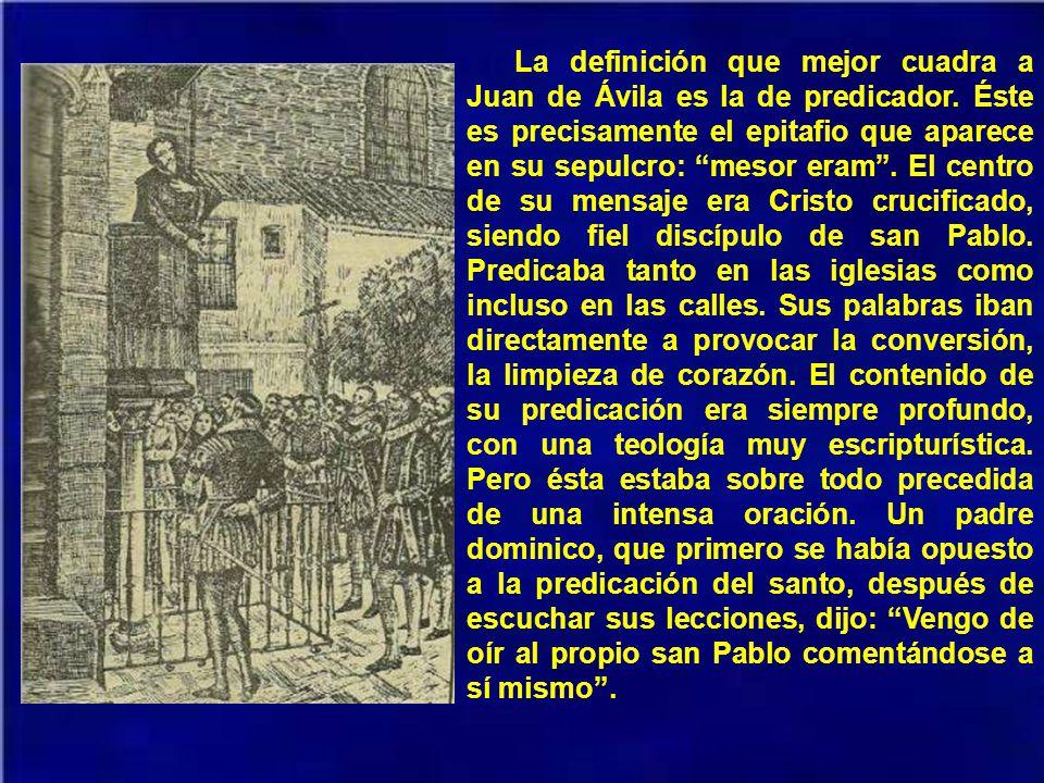 En 1535 marcha Juan de Ávila a Córdoba, llamado por el obispo Fr. Álvarez de Toledo. Allí conoce a Fr. Luis de Granada, con quien entabla relaciones e