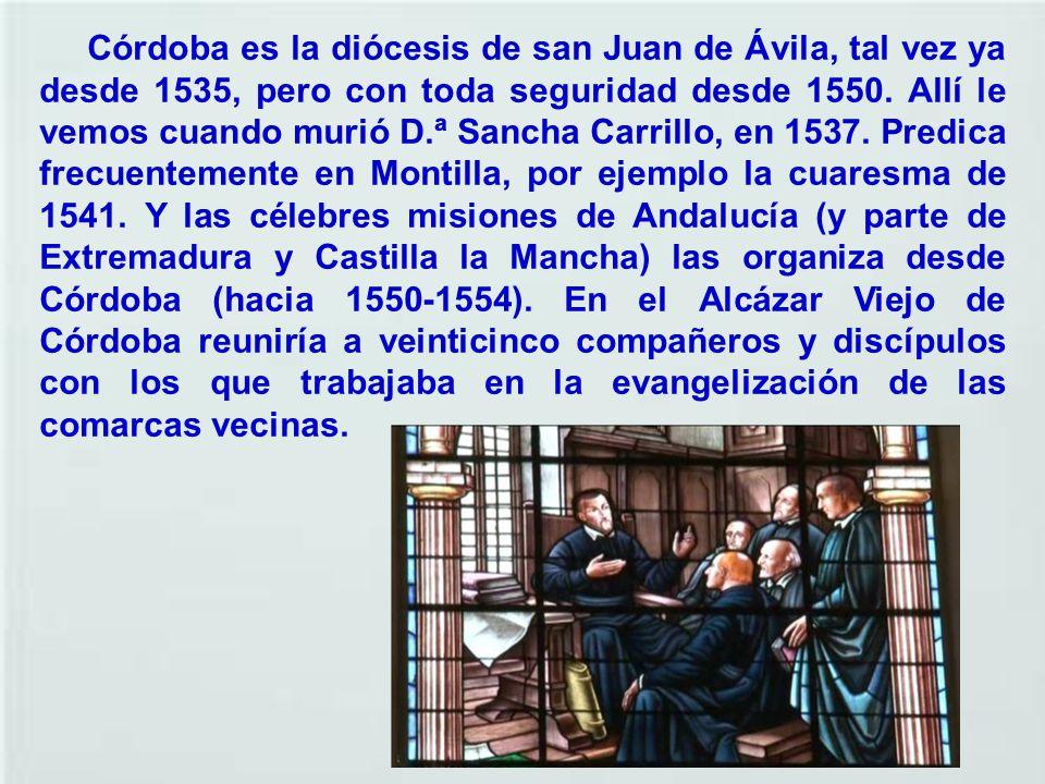 La definición que mejor cuadra a Juan de Ávila es la de predicador. Éste es precisamente el epitafio que aparece en su sepulcro: mesor eram. El centro