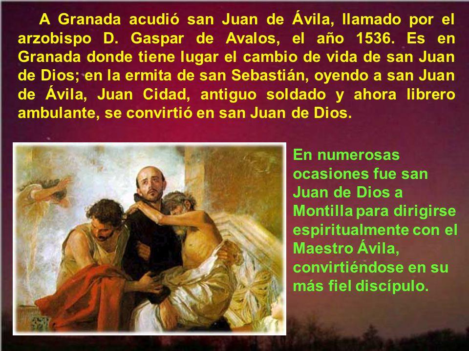 Córdoba es la diócesis de san Juan de Ávila, tal vez ya desde 1535, pero con toda seguridad desde 1550. Allí le vemos cuando murió D.ª Sancha Carrillo