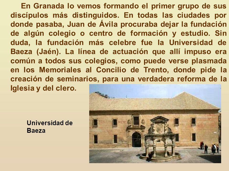El duque de Gandía, Francisco de Borja, fue otra alma predilecta influida por la predicación de san Juan de Ávila. Las honras fúnebres predicadas en G