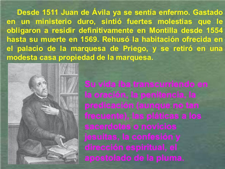 En Granada lo vemos formando el primer grupo de sus discípulos más distinguidos. En todas las ciudades por donde pasaba, Juan de Ávila procuraba dejar