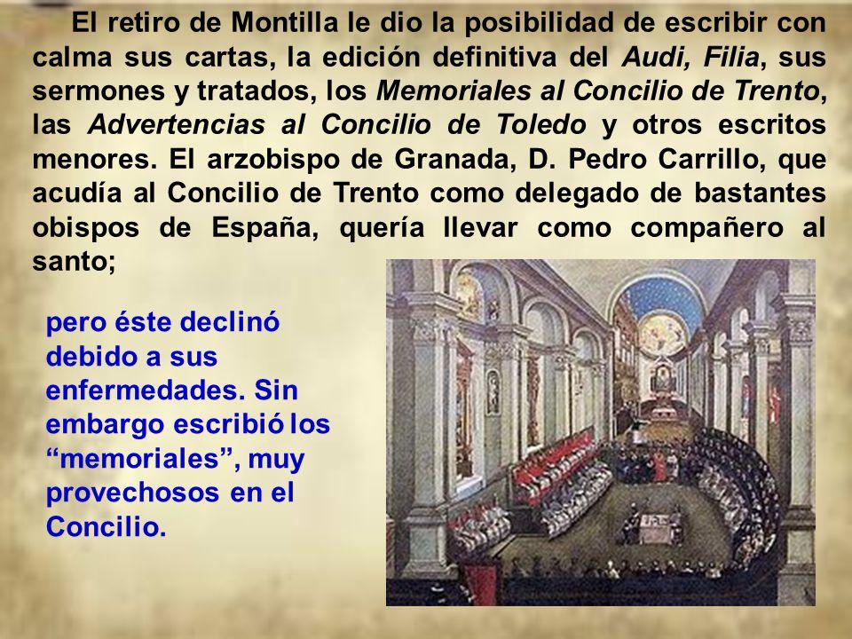 Desde 1511 Juan de Ávila ya se sentía enfermo. Gastado en un ministerio duro, sintió fuertes molestias que le obligaron a residir definitivamente en M