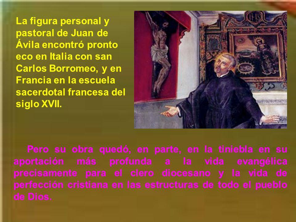 A san Juan de Ávila se le llama reformador, aunque sus escritos de reforma se ciñen a los Memoriales para el Concilio de Trento, escritos para el arzobispo de Granada, D.