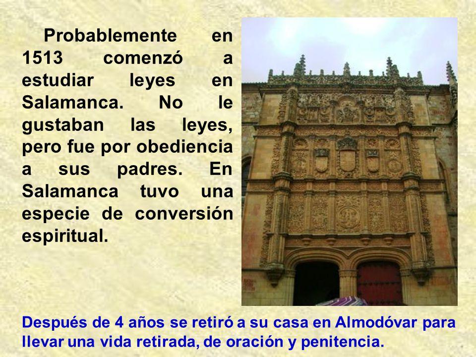 San Juan de Ávila nació el 6 de enero de 1499 o 1500 en Almodóvar del Campo (Ciudad Real), de una familia profundamente cristiana. Sus padres, Alfonso