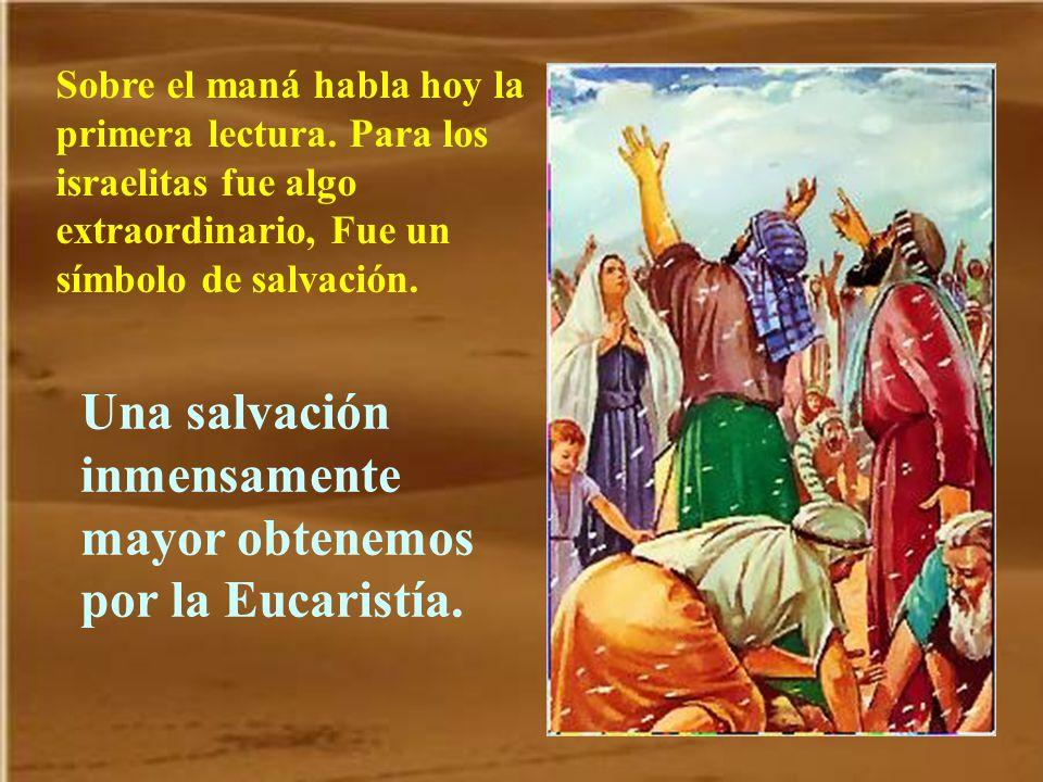 La Eucaristía es un alimento mucho mejor que el maná del desierto.