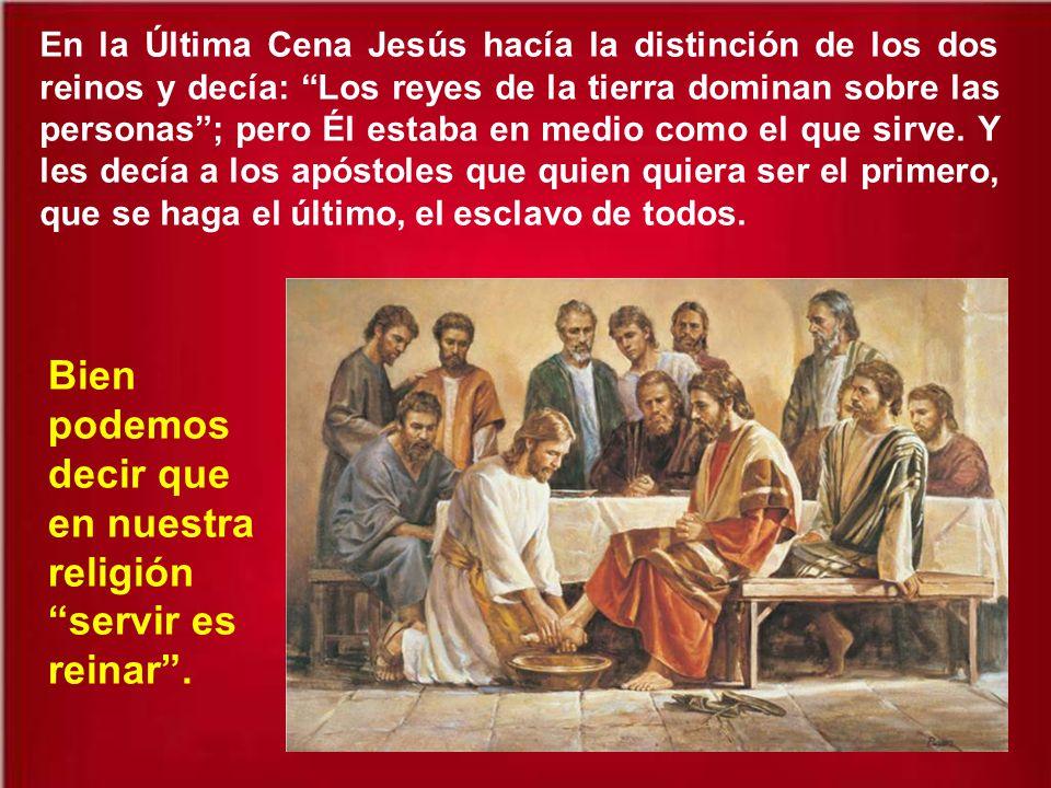Y a veces en el nombre de Cristo se han justificado crímenes y victorias materiales de unos sobre otros. Pero el Reino de Dios es la victoria sobre la