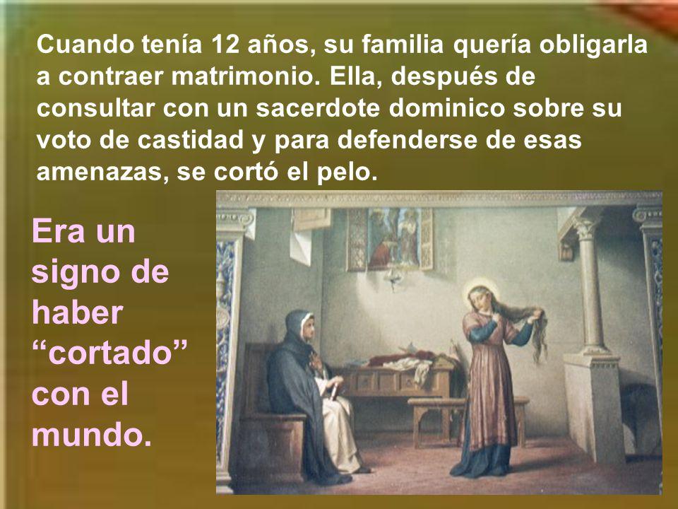 Al año siguiente, ante un cuadro de la Virgen, se ofreció al Señor que la había bendecido.