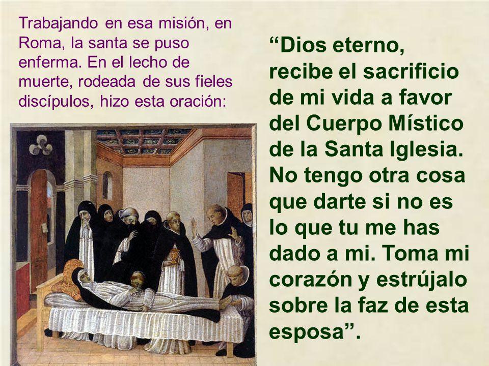 El papa pide a Catalina que vaya a Roma para que le ayude a persuadir a los que se habían separado.