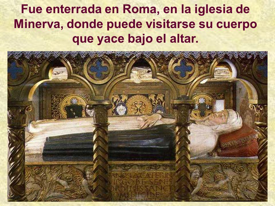 Santa Catalina de Siena murió, de un ataque de apoplejía, el 29 de Abril de 1380, a la edad de treinta y tres años.