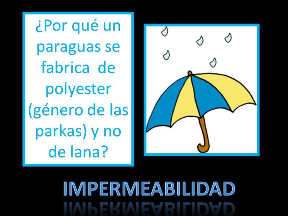 ¿Por qué un paraguas se fabrica de polyester (género de las parkas) y no de lana?