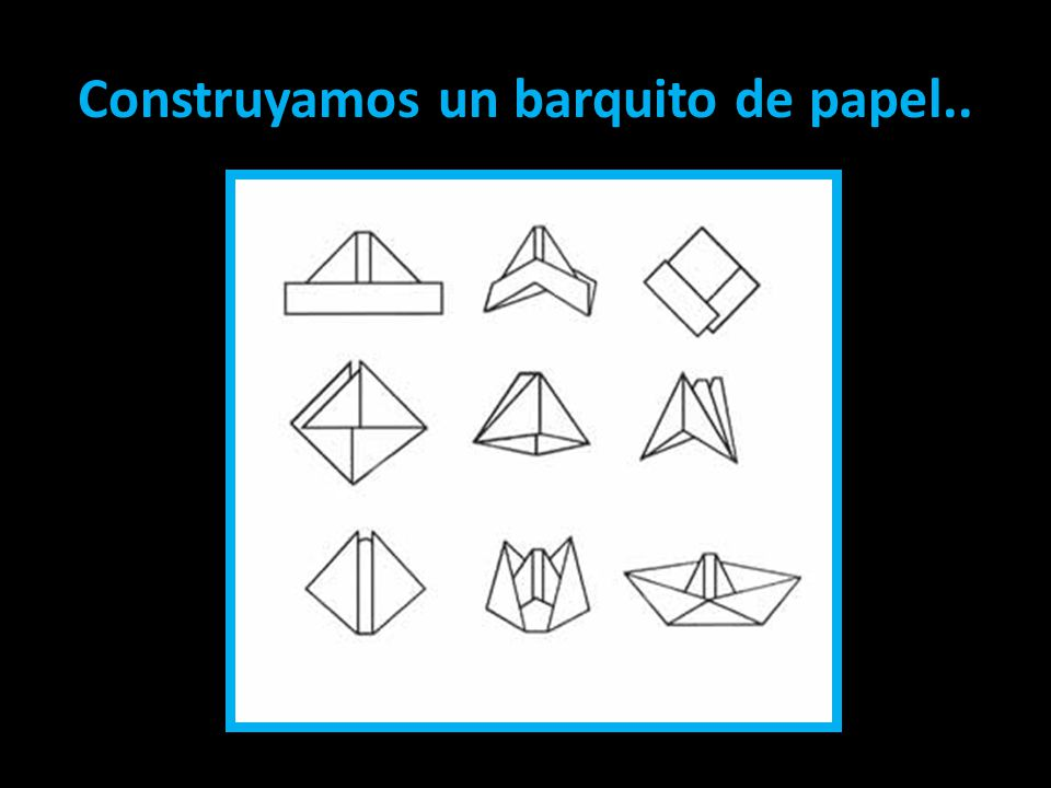 Construyamos un barquito de papel..