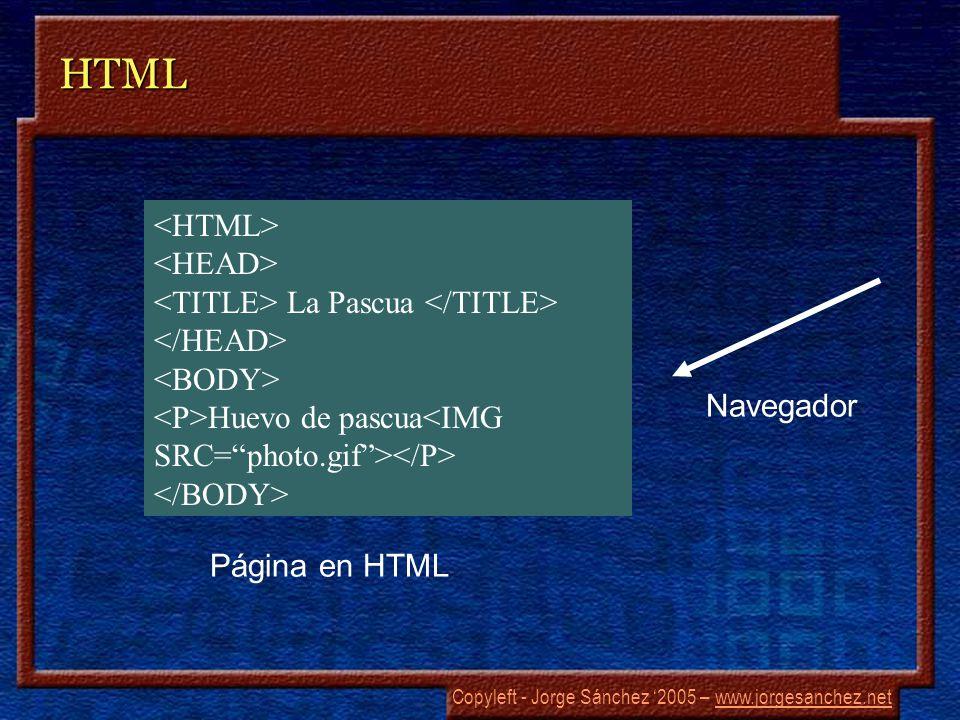 Copyleft - Jorge Sánchez 2005 – www.jorgesanchez.netwww.jorgesanchez.netHTML La Pascua Huevo de pascua Página en HTML Navegador