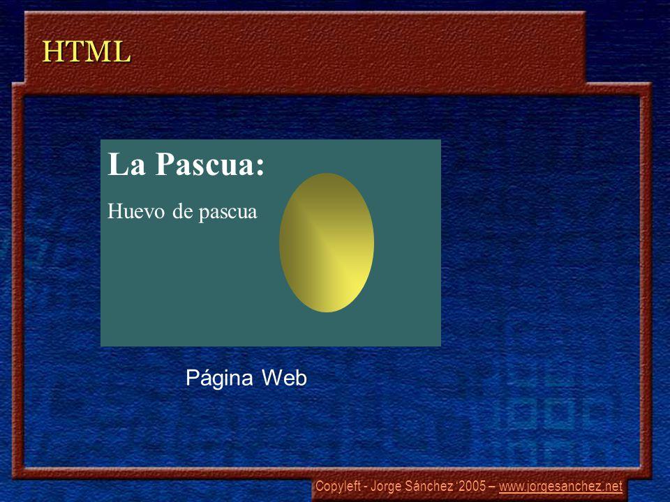 Copyleft - Jorge Sánchez 2005 – www.jorgesanchez.netwww.jorgesanchez.netHTML La Pascua: Huevo de pascua Página Web