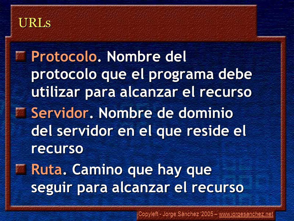 Copyleft - Jorge Sánchez 2005 – www.jorgesanchez.netwww.jorgesanchez.netURLs Protocolo.