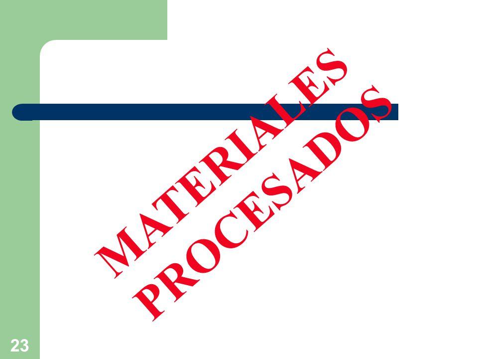 23 MATERIALES PROCESADOS