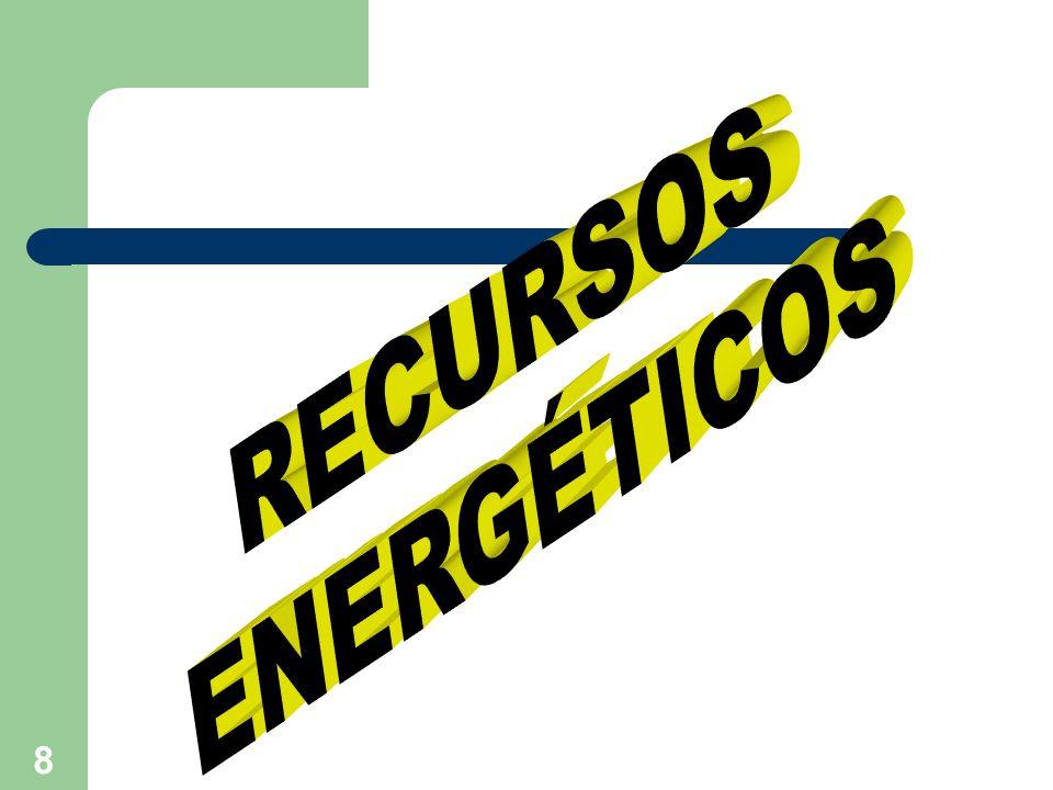 9 RECURSOS ENERGÉTICOS Son formas de energías, que se utilizan en los diferentes procesos de elaboración de un objeto o producto tecnológico.