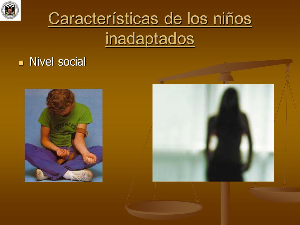 Características de los niños inadaptados Nivel social Nivel social