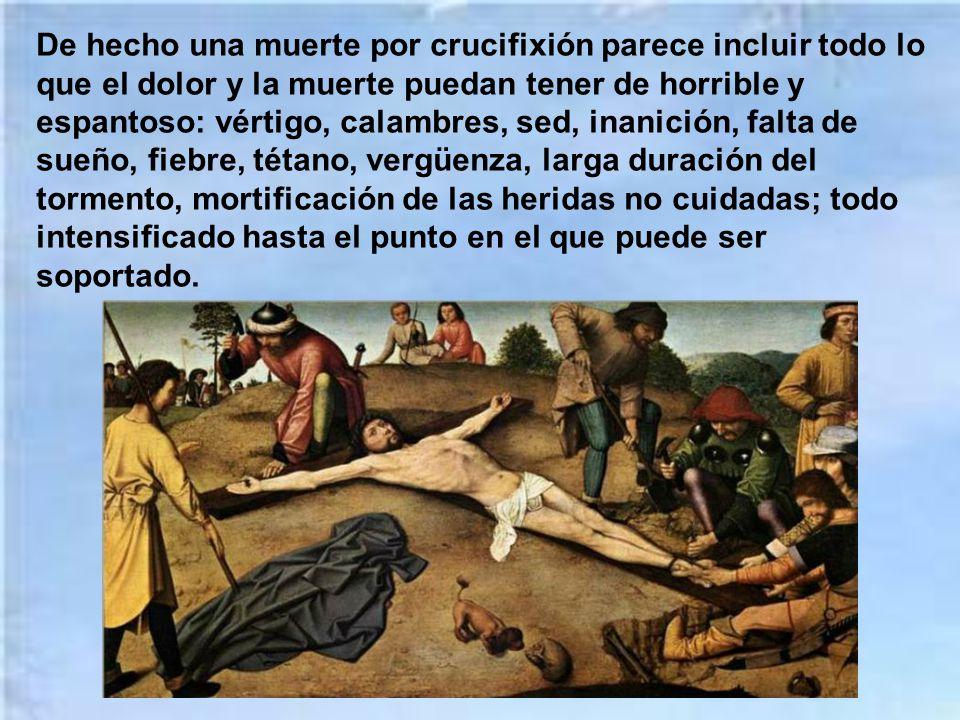San Cipriano que, más de una vez había presenciado crucifixiones, habla en plural de los clavos que traspasaban los pies. San Ambrosio, San Agustín y