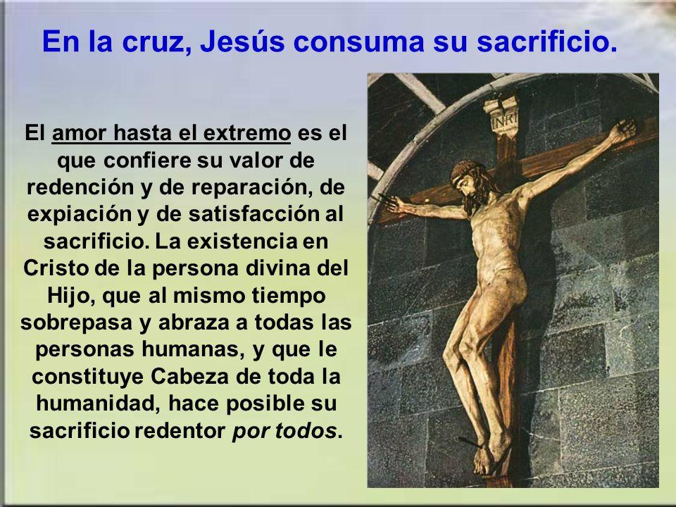 La muerte de Cristo es el sacrificio único y definitivo. La muerte de Cristo es a la vez el sacrificio pascual que lleva a cabo la redención definitiv