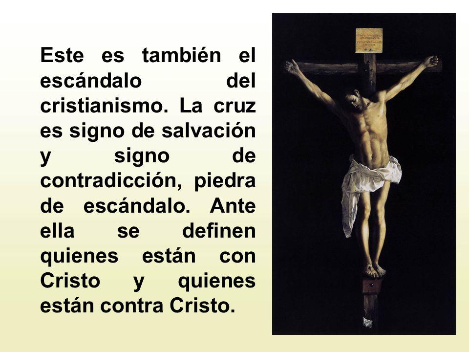 La cruz, como confiesa san Pablo, es el compendio, la fórmula abreviada de todo el Evangelio, símbolo autén- tico de la vida cristiana, de modo que el