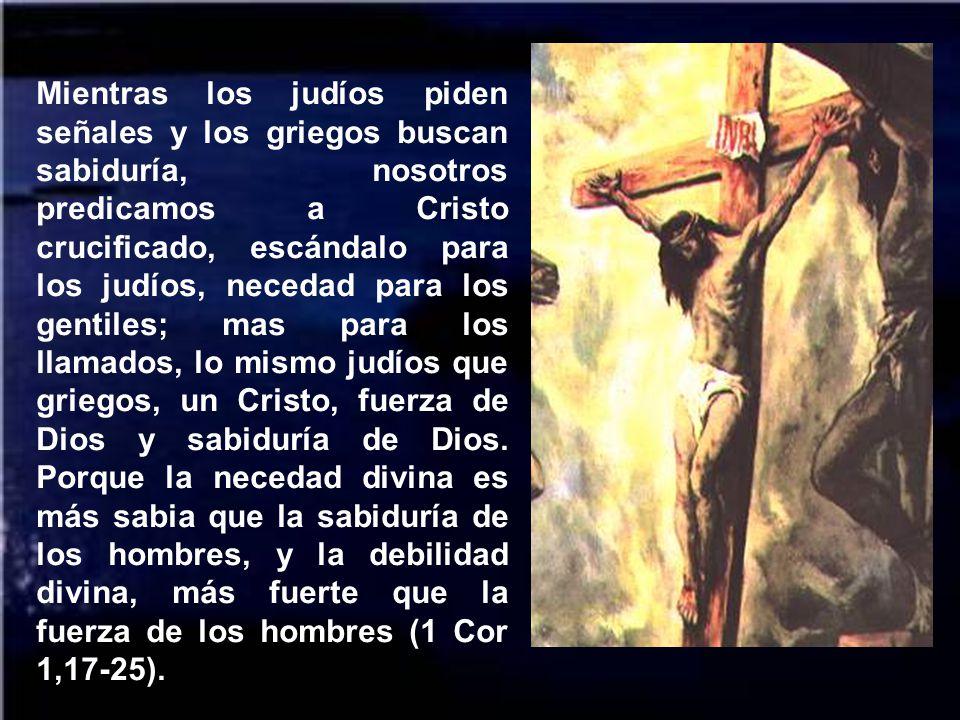 Este es también el escándalo del cristianismo. La cruz es signo de salvación y signo de contradicción, piedra de escándalo. Ante ella se definen quien